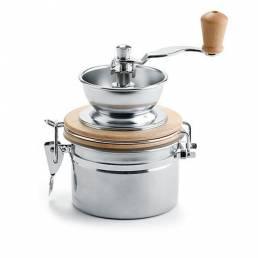 Kaffeemühle Edelstahl mit Keramikmahlwerk